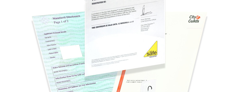 Gas Safe Accreditations